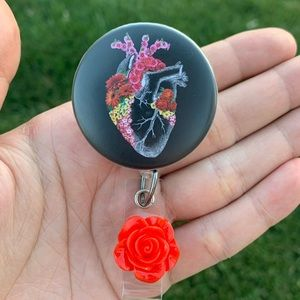 Medical Heart Retractable Badge Holder